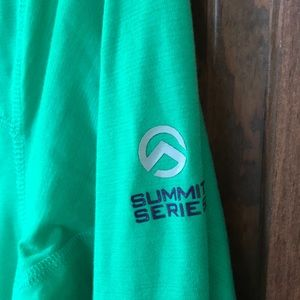 The North Face Jackets & Coats - North Face Summit Series Green Lightweight Zip Up